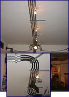 Beleuchtungskonzept mit Niedervolt Deckenlichtsystem, installiert von Elektro Kuttenkeuler bei American Vibes